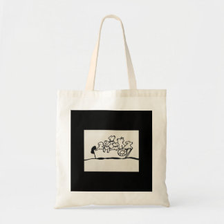 """Dogs on Boat"" Budget Tote by Willowcatdesigns"