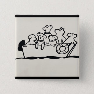 """""""Dogs on Boat"""" Button by Willowcatdesigns"""