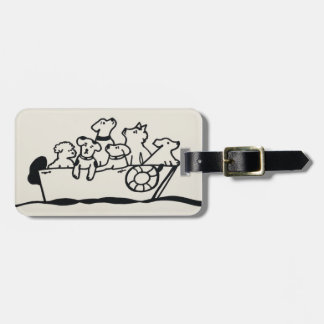 """Dogs on Boat"" Luggage Tag by Willowcatdesigns"