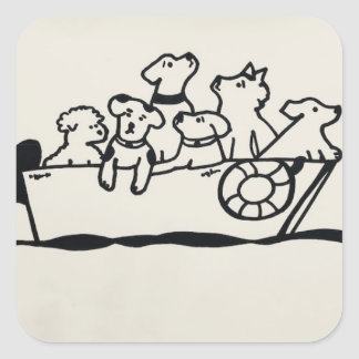 """Dogs on Boat"" Sticker by Willowcatdesigns"