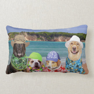 Dogs on the Beach Pillow