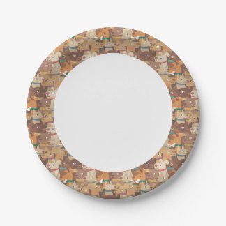 Dogs Pattern, Dogs Rule! 7 Inch Paper Plate