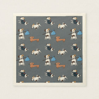 Dogs Pattern, Dogs Rule! Paper Napkins