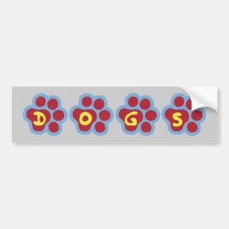 Dogs (Paw Print) Bumper Sticker