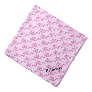 Dog's Pink Crowns Custom Bandana