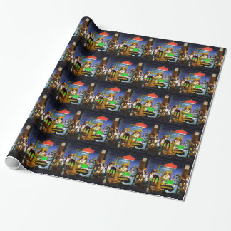 Dogs Playing a Game of Poker Wrapping Paper