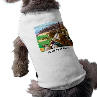 Dogs Playing Baseball Shirt