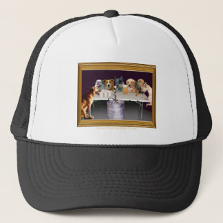 Dogs Playing Beer Pong Trucker Hat