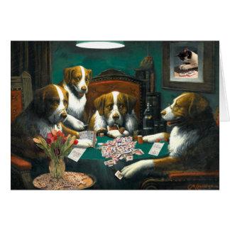 Dogs Playing Mah Jongg Notecard