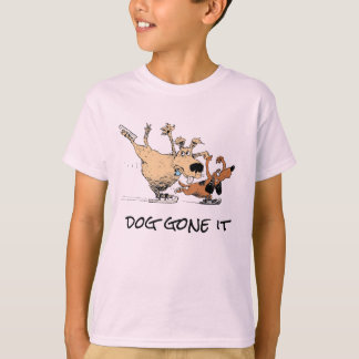Dogs Playing On Ice- Design O T shirts