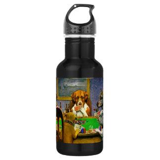 Dogs Playing Poker 532 Ml Water Bottle