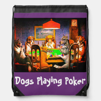Dogs Playing Poker A Friend In Need Drawstring Bag