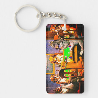 Dogs Playing Poker A Friend In Need Keychain