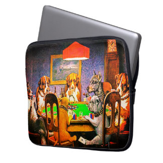 Dogs Playing Poker A Friend In Need Laptop Sleeve