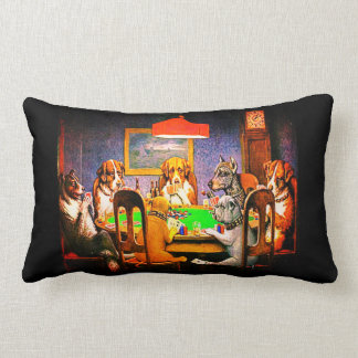Dogs Playing Poker A Friend In Need Lumbar Pillow