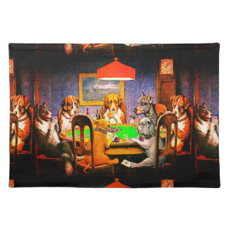 Dogs Playing Poker A Friend In Need Place Mat