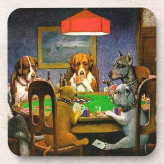 Dogs Playing Poker Coaster