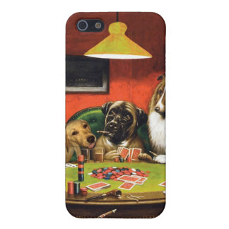 Dogs playing poker - funny dogs -dog art cover for iPhone 5/5S