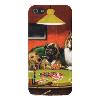 Dogs playing poker - funny dogs -dog art iPhone 5/5S case