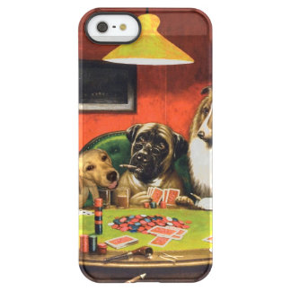 Dogs playing poker - funny dogs -dog art permafrost® iPhone SE/5/5s case