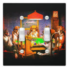 Dogs Playing Poker Light Switch Cover