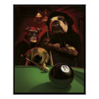Dogs Playing Pool - The Eightball Poster