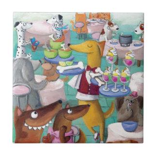 Dogs Restaurant Ceramic Tiles