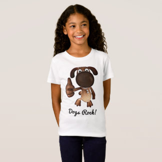 Dogs Rock T-Shirt for Girls