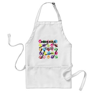 Dogs Rule Colorful Paw Prints Standard Apron