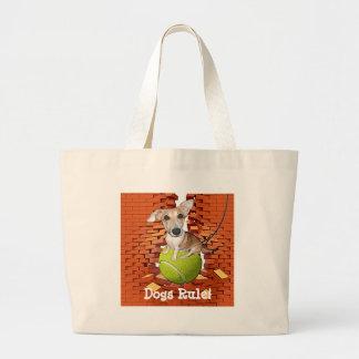 Dogs Rule Jumbo Tote Bag