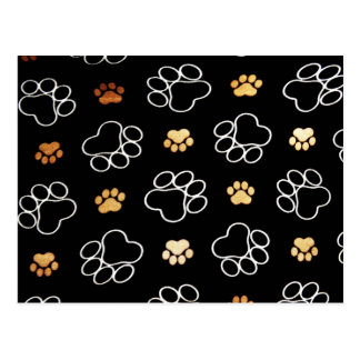 Dogs Rule Paw Prints Gifts for Dog Lovers Post Card