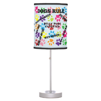 Dogs Rule Table Lamp