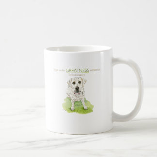Dogs see the greatness within us watercolor coffee mug