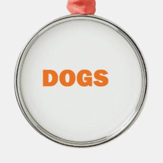DOGS Silver-Colored ROUND ORNAMENT
