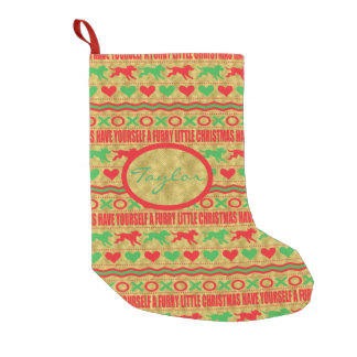 "DOGS Stocking ""Furry Little Christmas"" Pet Lovers Small Christmas Stocking"