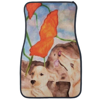 Dogs - To live in the here and now Car Mats Set