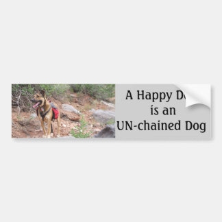 Dogs Un-chained Bumper Sticker