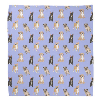 Dogs Vector Seamless Pattern Bandana
