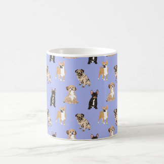 Dogs Vector Seamless Pattern Coffee Mug