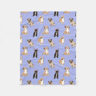 Dogs Vector Seamless Pattern Fleece Blanket