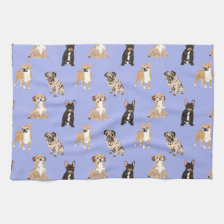 Dogs Vector Seamless Pattern Kitchen Towel