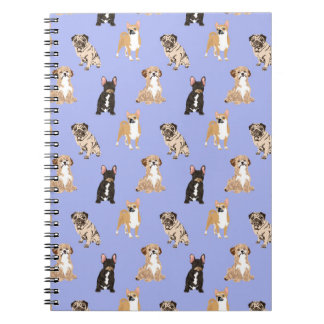 Dogs Vector Seamless Pattern Notebook