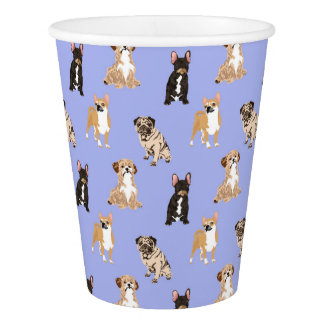 Dogs Vector Seamless Pattern Paper Cup
