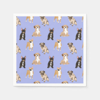Dogs Vector Seamless Pattern Paper Napkin