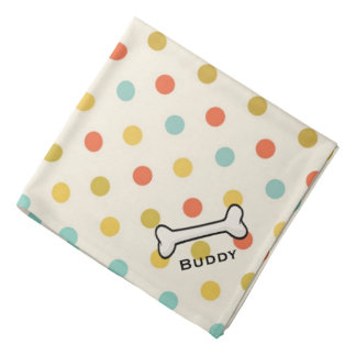 Dog's Vintage Polka Dot Custom Bandana
