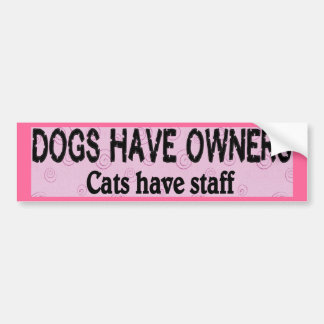 Dogs vs. Cats Bumper Sticker