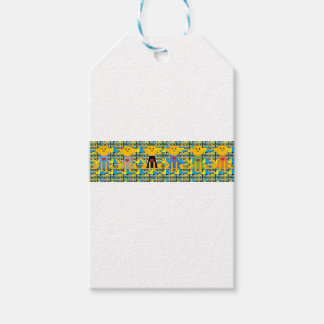 Dogs with sweaters gift tags