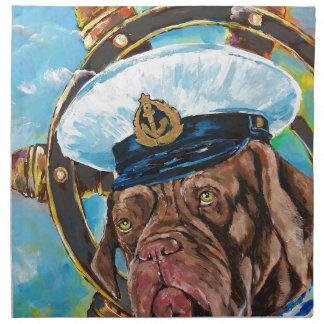 Dog's Year // Sailor's Dog // Gift to him Napkin