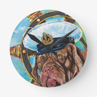 Dog's Year // Sailor's Dog // Gift to him Round Clock