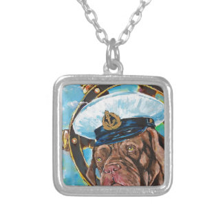Dog's Year // Sailor's Dog // Gift to him Silver Plated Necklace